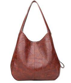 78f0040ed99c Hobos Bag Women Patchwork Handbags Female Shoulder Bags Lady Tote Bag  Vintage Leather Bags for Women
