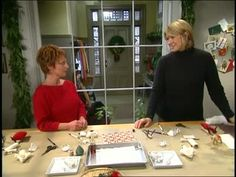 Martha Stewart and guest Lucy Webber make cotton batting ornaments that you can hang around your Christmas tree this holiday season.