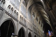 The ceiling of Cathedral St Etienne soars overhead. It is magnificent. Saint Etienne, Weekend Breaks, North West, Cathedral, Louvre, Ceiling, France, City, Travel