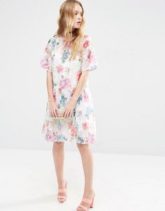 ASOS | ASOS Smock Dress in Organza Floral