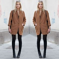 #stealthelook #look #looks #streetstyle #streetchic #moda #fashion #style #estilo #inspiration #inspired #Blazer #Bege #calça #preto #meiacalça