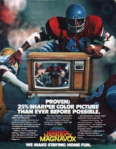 """1980 MAGNAVOX TELEVISION vintage magazine advertisement """"Proven"""" ~ Proven: 25% sharper color picture than ever before possible. - Model 5020 - More lines of resolution make the difference. ... New Magnavox Touch-Tune Television also gives you: ..."""