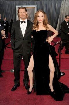 Jambe d'Angelina Jolie aux Oscars