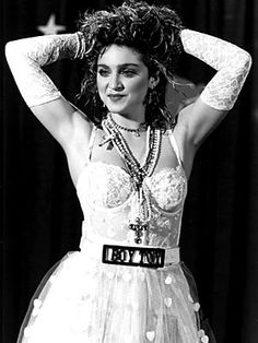 Madonna in the Like A Virgin video dress