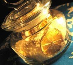sali da bagno al limone