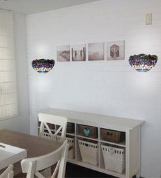 ARTE PRÁCTICO  Los apliques son una solución perfecta para iluminar espacios reducidos. Aunque eso no significa que debamos renunciar al estilo y para ello contamos con estos apliques Tiffany.