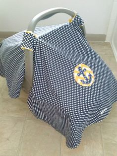 Nautical Anchor Car Seat Canopy by BabblesBubblesBows on Etsy, $40.00