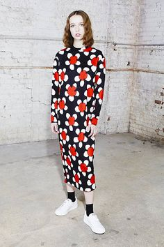Marc Jacobs Daisy Print Dress in Red