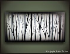 Lost-------Original Abstract Painting by Justin Strom Large 48 x 24 Deep Gallery Canvas