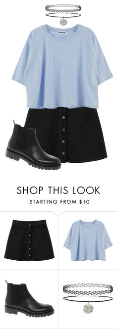 """okay"" by bayley-the-weird-fangirl ❤ liked on Polyvore featuring Monki, Vagabond and Topshop"