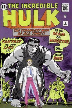 Incredible Hulk marvel comic book cover art by Jack Kirby Valuable Comic Books, Rare Comic Books, Vintage Comic Books, Vintage Comics, Comic Book Covers, Comic Books Art, Hulk 1, Hulk Comic, Comic Book Superheroes