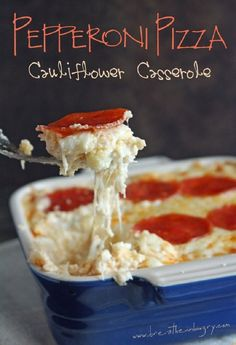 15 Cauliflower Recipes! I gotta try this Cauliflower Casserole. Going to get creative with toppings. Goat cheese, spinach, grilled chicken...yes, please!