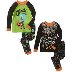 Halloween Baby Toddler Boy Cotton Tight Fit Pajamas, 4-Piece Set - Walmart.com