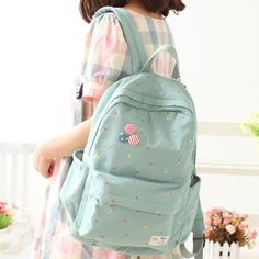 Cheap bag shoping, Buy Quality bag cake directly from China bag of pearl beads Suppliers: Korea cute Women Canvas Backpack School bag For Girls Ladies Teenagers Casual Travel bags Schoolbag Backpack Canvas Backpack, Backpack Purse, Leather Backpack, Travel Backpack, Stylish Backpacks, Cool Backpacks, Kawaii Bags, School Bags For Girls, High School Bags