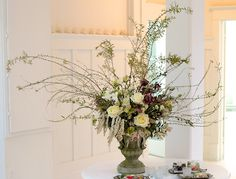 tall arrangement for the wine barrels / clare day flowers