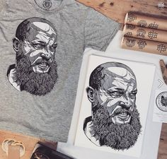 Ragnar Vikings tee - a firm favourite here at the Bearhug HQ