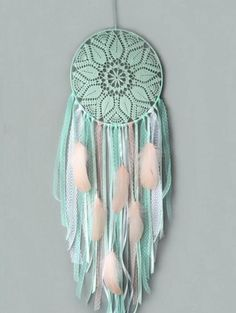 Large mint dream catcher Boho wedding decor Bohemian bedroom decoration Wall hanging lace nursery dreamcatcher Mothers day gift by DreamSellerBoutique on Etsy Lace Dream Catchers, Dream Catcher Boho, Room Decor For Teen Girls, Dream Catcher Nursery, Boho Wedding Decorations, Diy Décoration, Fun Diy, Bedroom Vintage, Trendy Bedroom