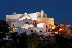 Image result for church santa eulalia ibiza Ibiza, Opera House, Taj Mahal, Santa, Night, Building, Travel, Image, Viajes