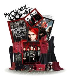 """My Chemical Romance I"" by broken-killjoy ❤ liked on Polyvore featuring ASOS, GUESS, Valentino, Forever 21, M-Clip, Vans, Frame Denim, Worthington, Eos and Michael Kors"