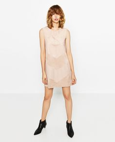Image 1 of CONTRAST DRESS from Zara