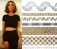 Lotus Threads loves these Shimmer Tatts on Etsy! As Seen on Beyonce Wearing Metallic Temporary by ShimmerTatts, $9.95