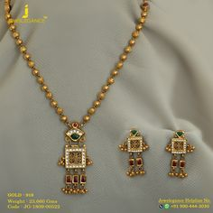 Gold 916 Premium Design Get in touch with us on Pearl Necklace Designs, Gold Earrings Designs, Gold Necklace, Pendant Necklace, Gold Bangles Design, Gold Jewellery Design, Antique Jewellery Designs, Vintage Jewellery, Antique Jewelry