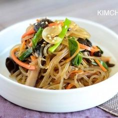 Japchae (Korean Glass Noodles) one-pan recipe