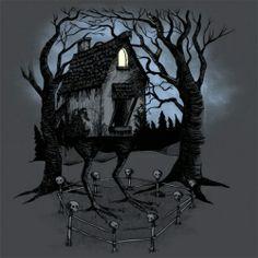 Baba Yaga's hut called Izbushka. Russian fairy tales.