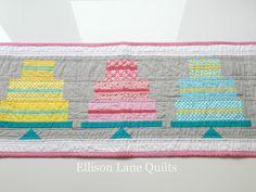 cake runner by Ellison Lane Quilts, via Flickr
