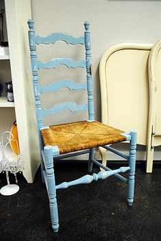 I have this chair! And it needs some color, but it wasnt thinking aqua.