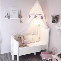 pipandsoxA sweet bedroom inspiration for your afternoon by @linakuusisto You can create this look with our Maileg rabbits and bunnies, Maileg wings, Número 74 canopies and our soon to arrive star garlands by @essiandco www.pipandsox.com.au This cot / bed