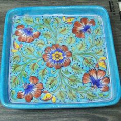 #bluepottery #tray #jaipur #homedecor #kitchendecor #blueturquoise @glitznglow