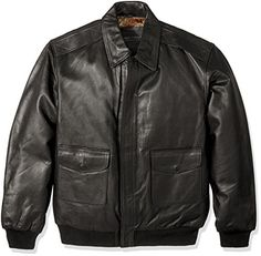 Excelled Men's Big and Tall Leather Flight Jacket