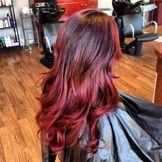 brown to red ombre hair! But i would do red to brown