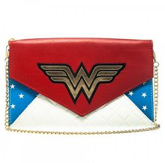 Wonder Woman Envelope Wallet with Chain