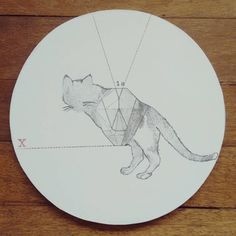 """ Animal imposible en ecuación "" porta calientes pieza única #Himallineishon #art #illustration #handpainted #homedecoration #homedecor"