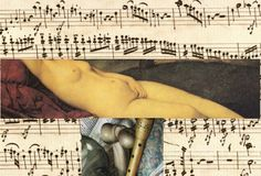 Dada Shojai, 7813 #art #collage #cutout #dada shojai #orgasm #music #death #notes #beethoven #painting