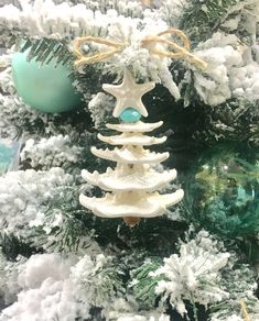 starfish christmas ornament this natural starfish ornament will look wonderful on a coastal christmas tree - Florida Christmas Decorations