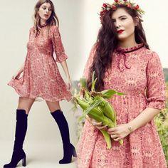 AUTHENTIC For Love & Lemons GENEVA Vintage SIENNA Empire BABYDOLL Mini Dress NEW #ForLoveLemons #EmpireWaist #Casual