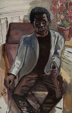 Black Man, oil on canvas, 44 x 28-18 in., 1966, by Alice Neel