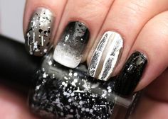 MODI Glam Nails Tweed Jacket Skittles Mani Pinned by Pinafore Chrome Extension