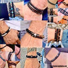 Ml B, Healthy Women, Make A Gift, Stone Beads, Bracelet Set, Leather Wallet, Nba, Beaded Bracelets, Mens Fashion
