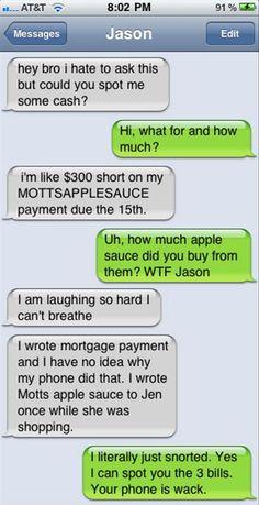 funny texts, laugh, apple sauce, sauces, text fails, funni, auto correct fails, autocorrect, apples