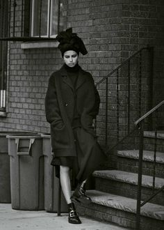 """Mystery in Brooklyn"" Adriana Lima by Peter Lindbergh"