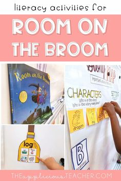 Love all these literacy ideas for room on the broom! Perfect for my 1st grade class! TheAppliciousTeacher.com