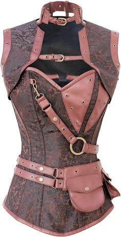 The Violet Vixen - Astute Steampunk Mastermind Brocade, $123.63 (http://thevioletvixen.com/corsets/astute-steampunk-mastermind-brocade/) Steampunk, Corset, Belt, Attachments, Brocade, Brown, Woman, Sexy, Kato, Sherlock