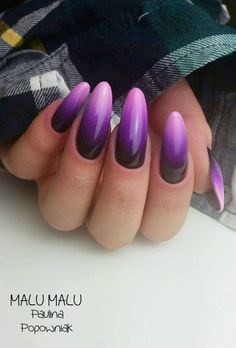 Black Poison, Bombastic, Miss America Gel Brush by Malu Malu, Paulina Popowniak #nails #nail #nailsart #indigonails #indigo #hotnails #summernails #springnails #ombrenails #ombre #neon #violet