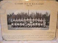 1940's**ARMY FOOTBALL TEAM PHOTOGRAPH**C.I.CAMP & BOR STAFF ,INDIA