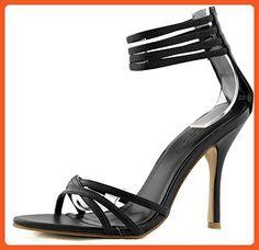 Women's Wild Diva Hachi-99 Black Straps Casual Sandals Shoes, Black , 7 - Sandals for women (*Amazon Partner-Link)