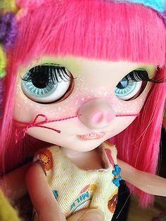 Custom Simply Mango Takara Blythe Pink Piggie Girl with OOAK Outfit Signed | eBay
